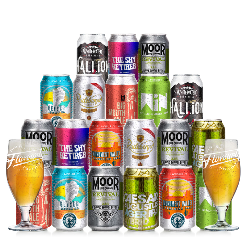 Mixed Case + 2 Glasses by Flavourly