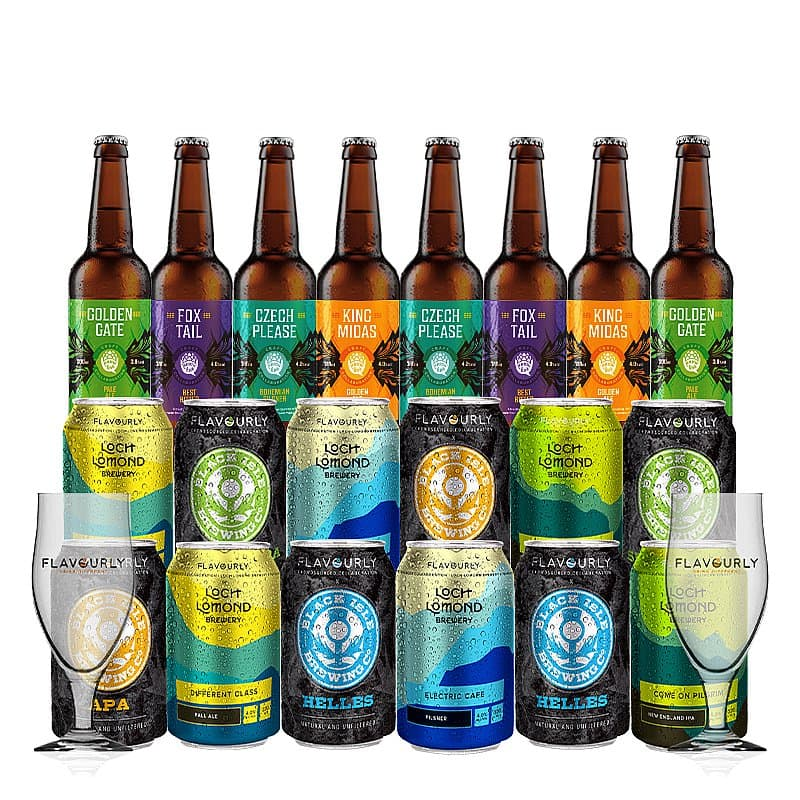 20 Mixed Case + 2 Glasses by Flavourly Collaboration Cases