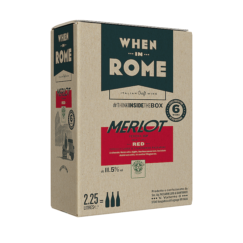 Ecotricity Merlot Box by When in Rome X Ecotricty
