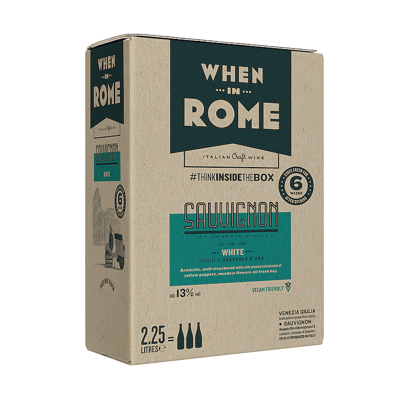 Ecotricity Sauvignon Blanc Box by When in Rome X Ecotricty