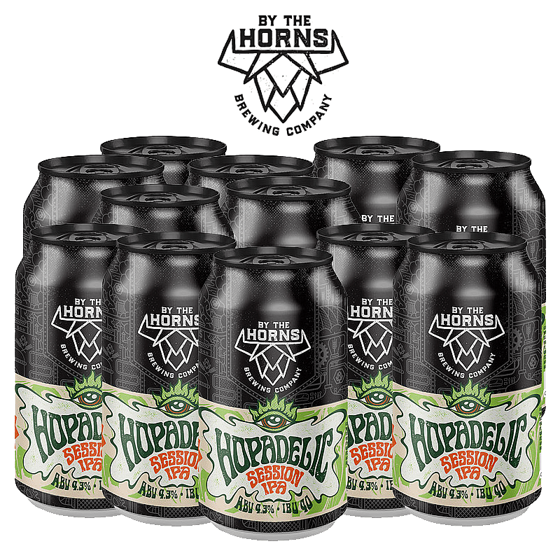 Hopadelic 12 Case by By the Horns Brewing
