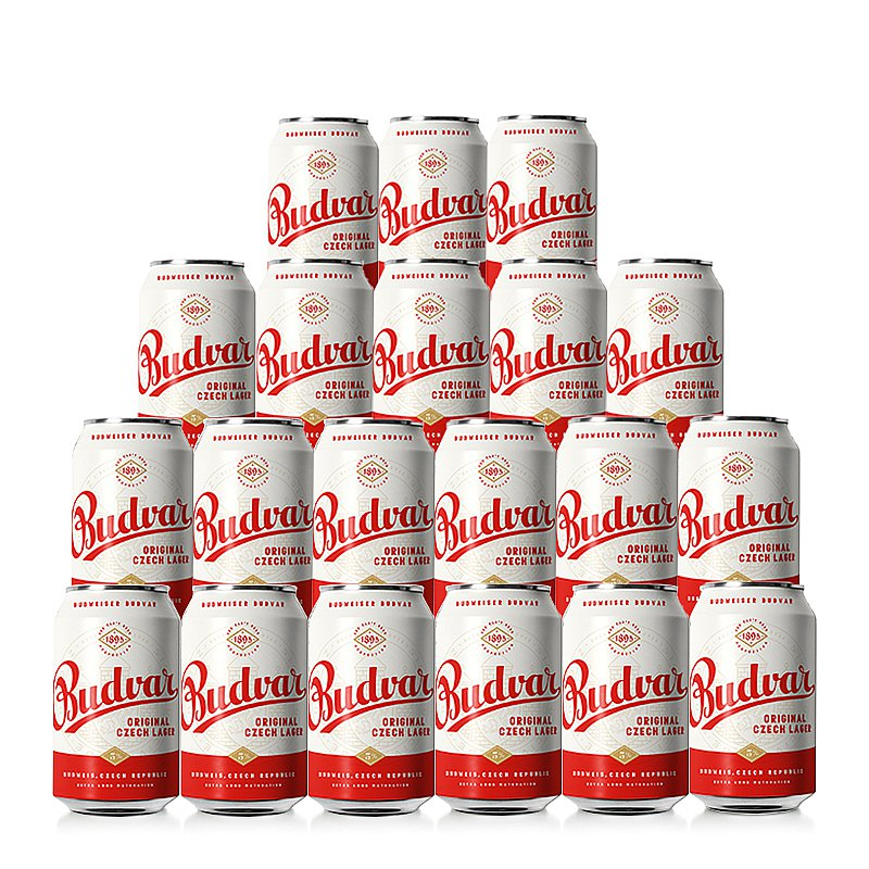 330ml Budvar Original 20 Case by Budweiser Budvar