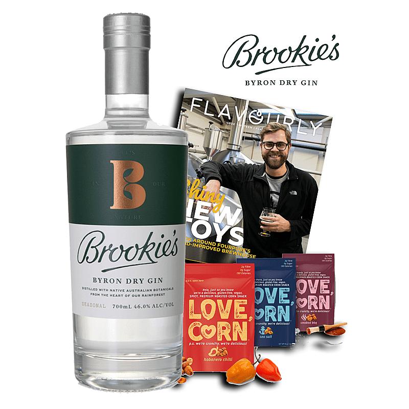 Brookies Dry Gin box by Brookie's