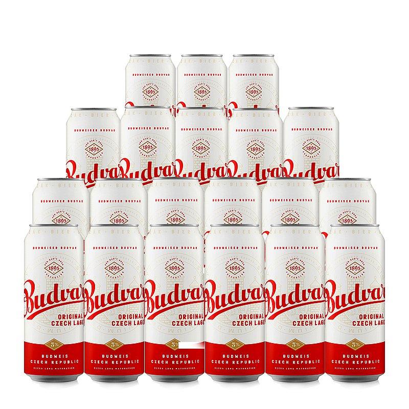 500ml Can Budvar Original 20 Case by Budweiser Budvar