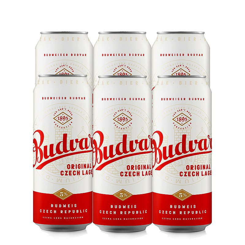 500ml Budvar Original 6 Case by Budweiser Budvar