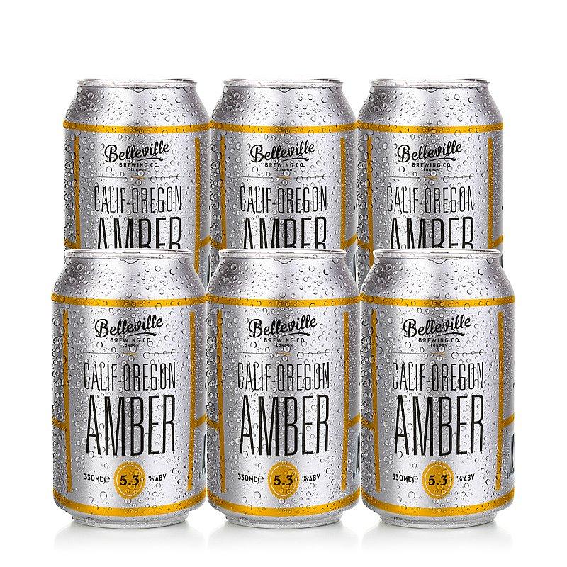 Calif-Oregon Amber 6 Case by Belleville Brewing Co.
