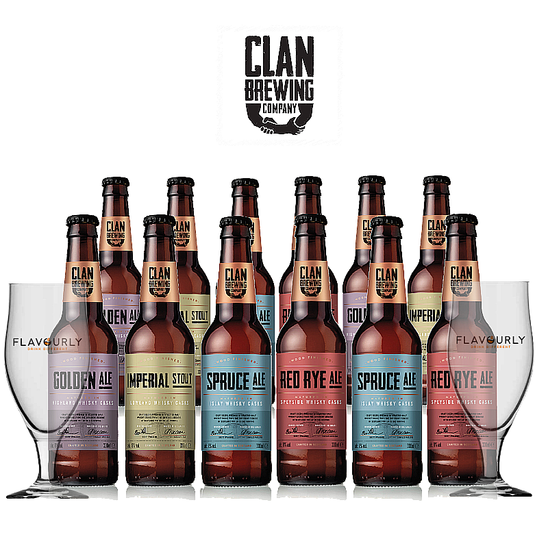 Mixed 12 Case by Clan Brewing Co