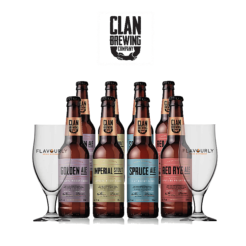 Mixed 8 Case by Clan Brewing Co