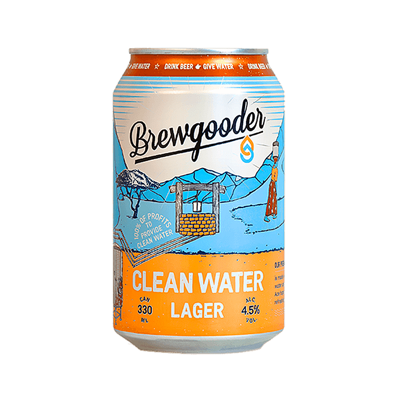 Clean Water Lager by Brewgooder