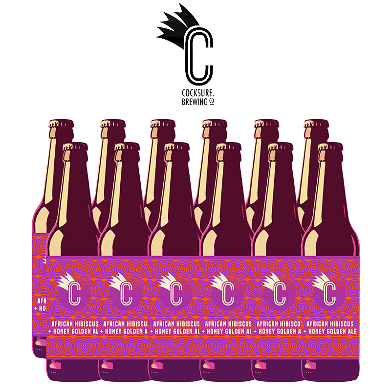 Hibiscus and Honey Golden Ale 12 Case