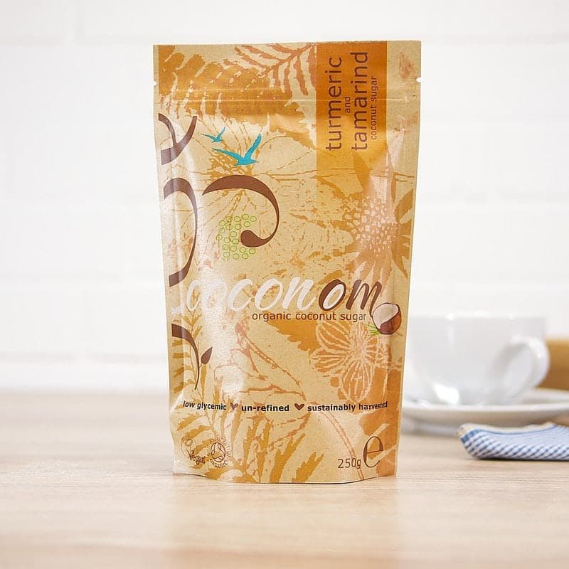 Turmeric Infused Organic Coconut Sugar by Coconom