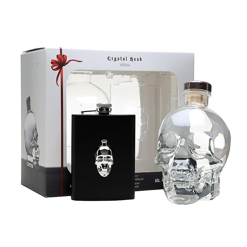 Crystal Head Vodka Gift Pack With Hip Flask