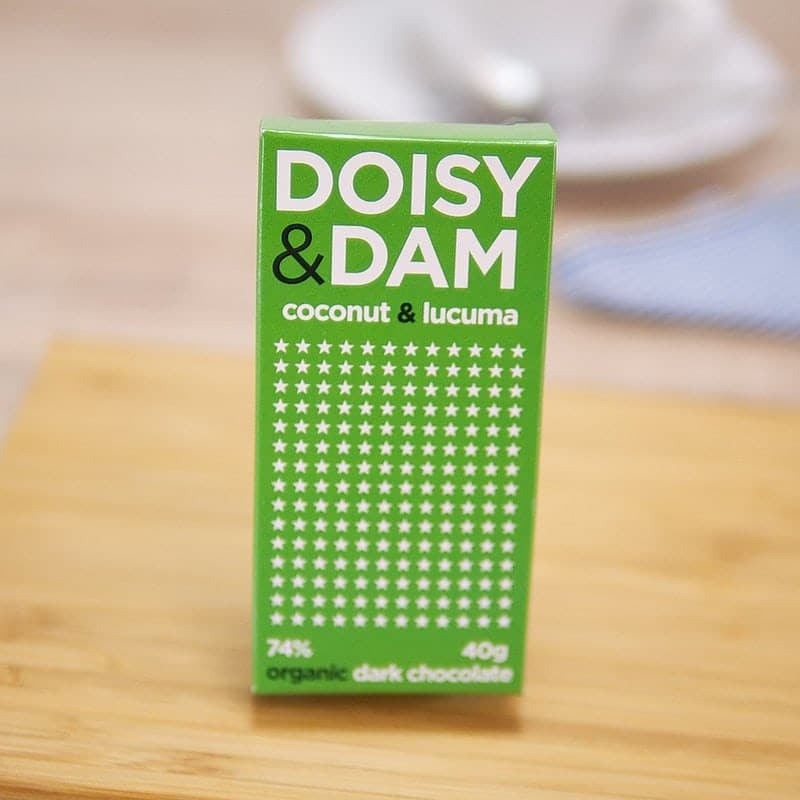 Coconut & Lucuma Dark Organic Chocolate by Doisy and Dam Super Foods