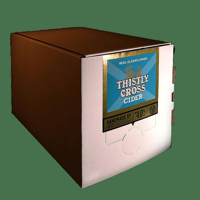 Bag in Box Elderflower Cider by Thistly Cross