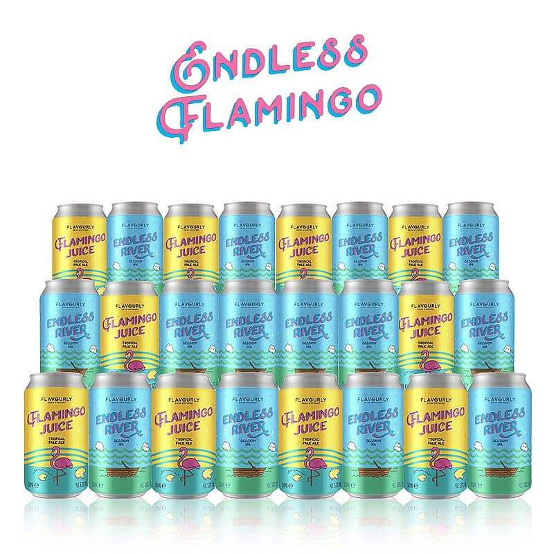 Flamingo Juice & Endless River 24 Mixed Case by Flavourly