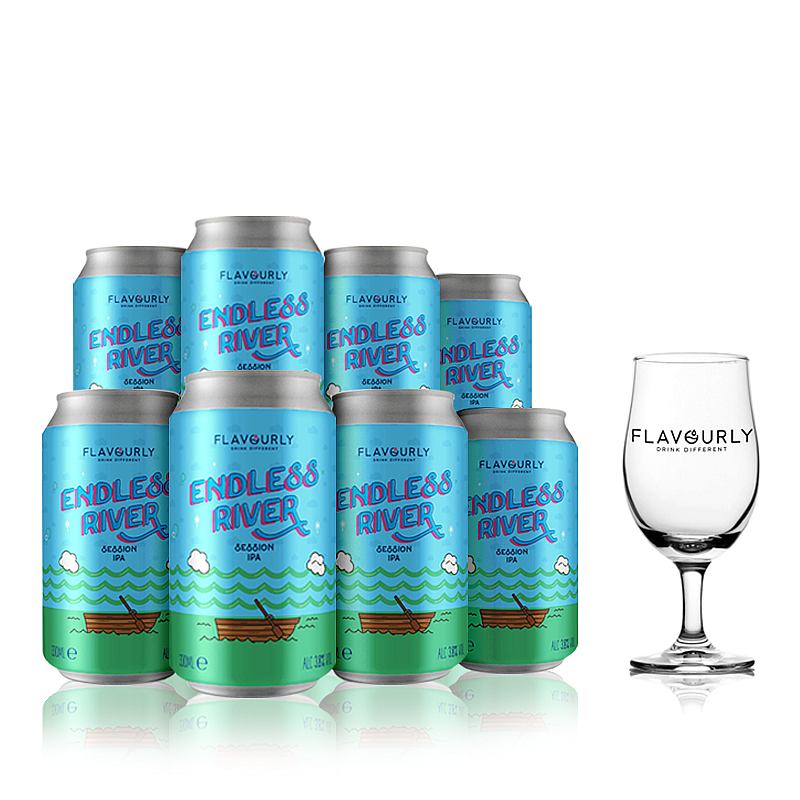 The Endless River Collection with Glass - Small by Flavourly
