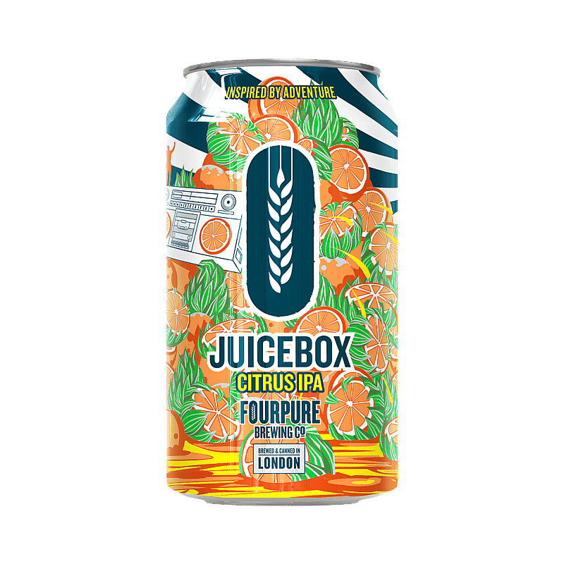Juicebox Citrus IPA by Fourpure