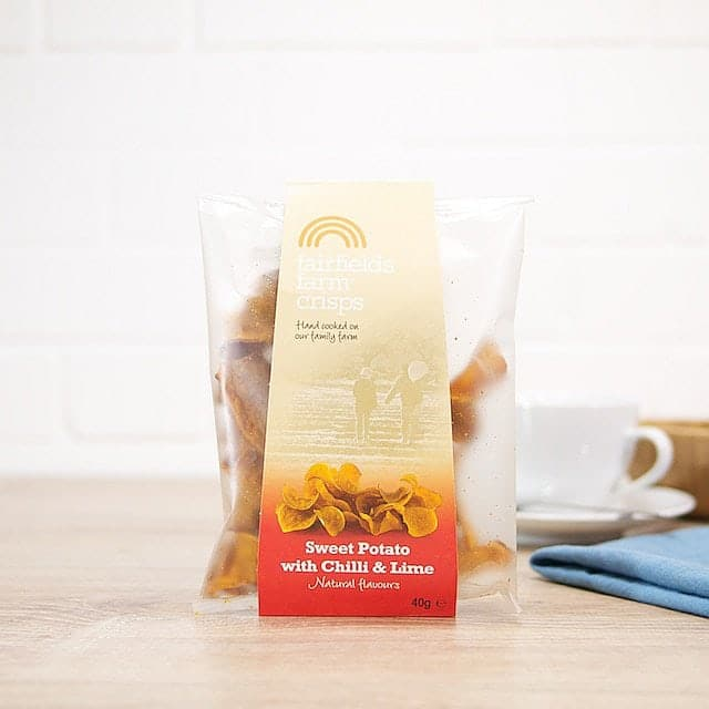 Sweet Potato Crisps with Chili and Lime by Fairfield's Farm Crisps