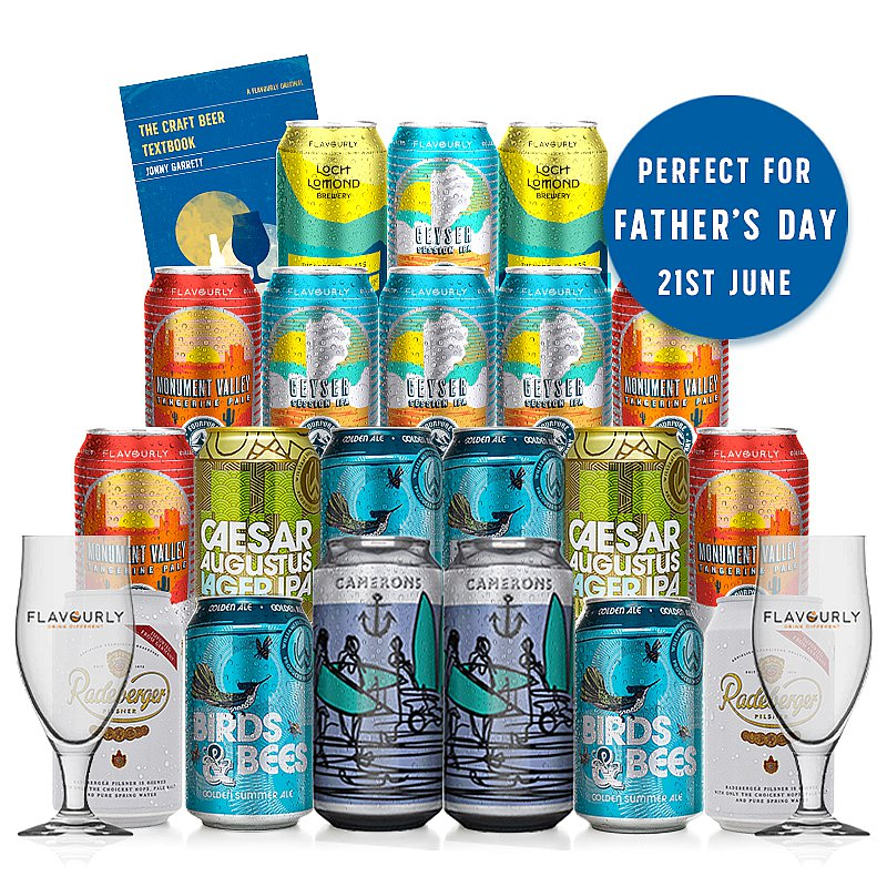 Fathers Day 20 Case + 2 Glasses + Beer Guide by Flavourly