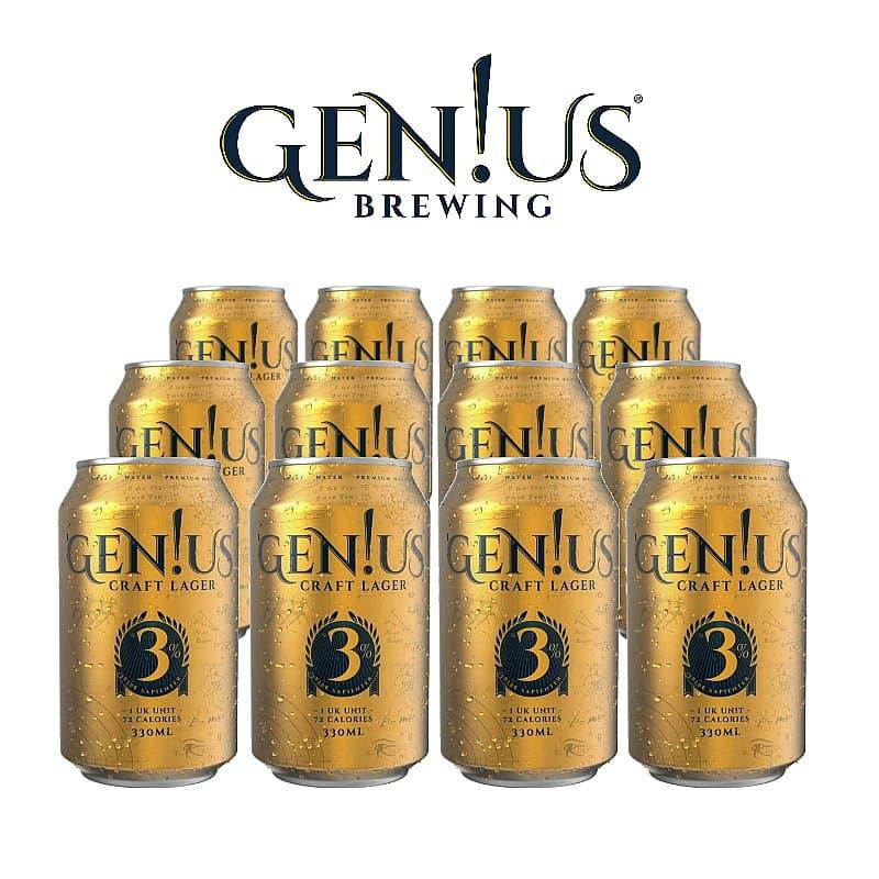 Genius Lager 12 Case by Gen!us Brewing