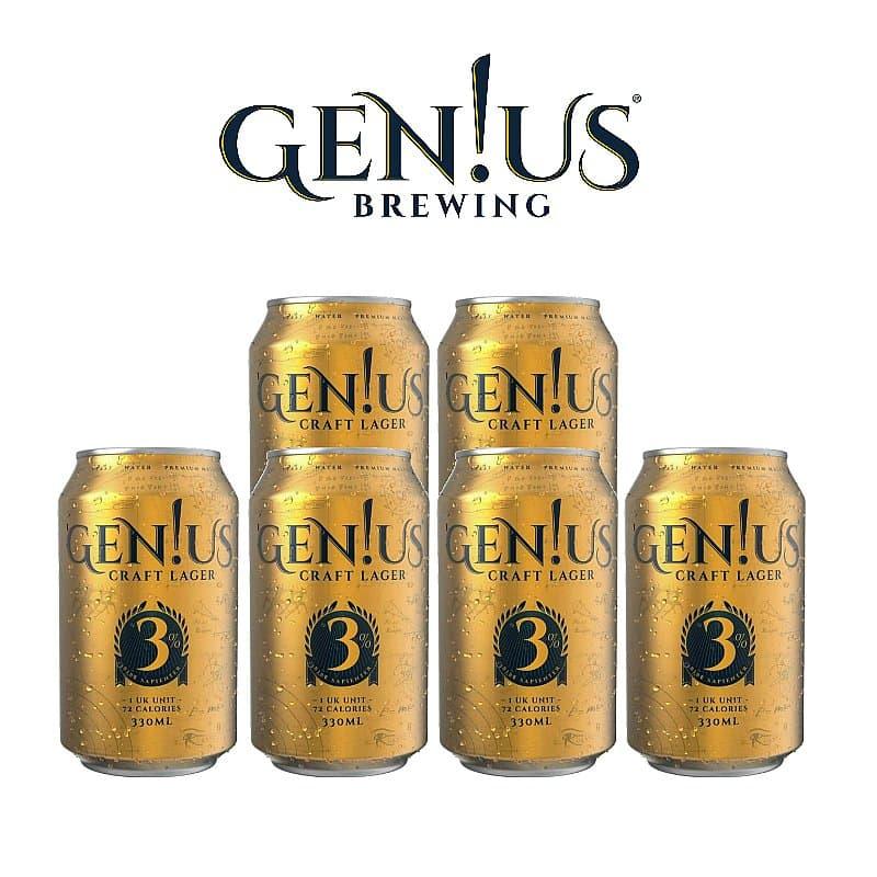 Genius Lager 6 Case by Gen!us Brewing