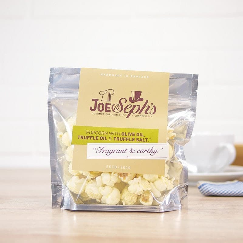 Olive Oil, Truffle Oil & Truffle Salt Popcorn by Joe & Sephs