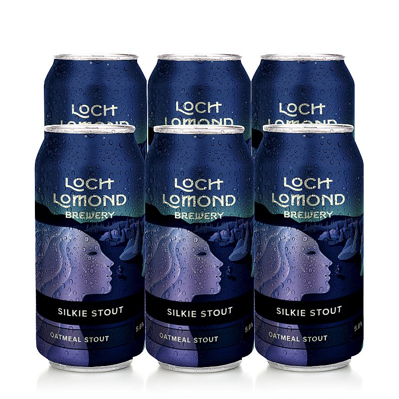 Silkie Stout Can 6 Case by Loch Lomond Brewery