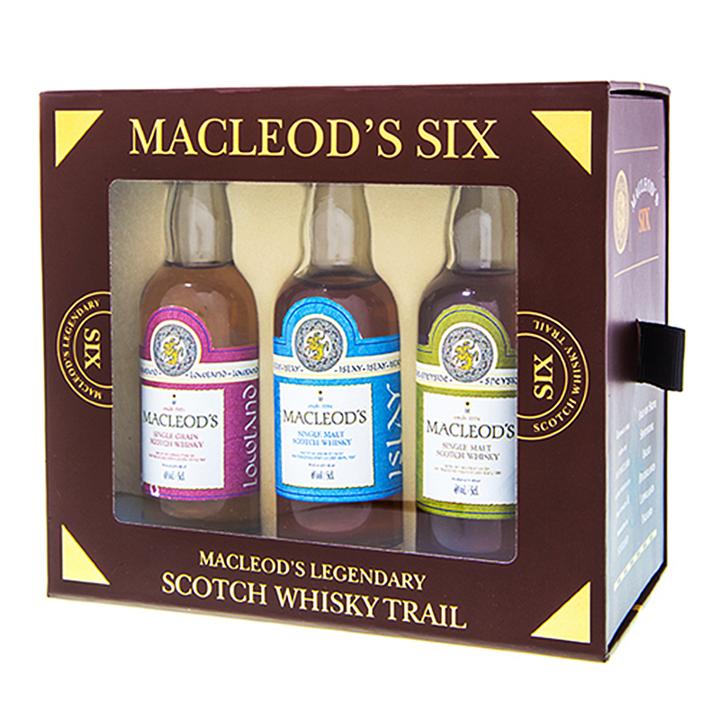 Macleods Six Scotch Whisky Trail Miniature