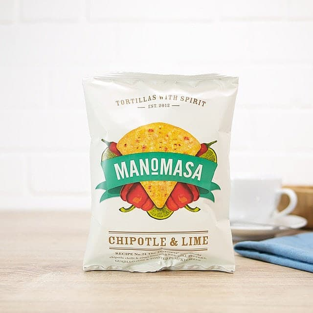 Chipotle and Lime Tortilla Chips by Manomasa