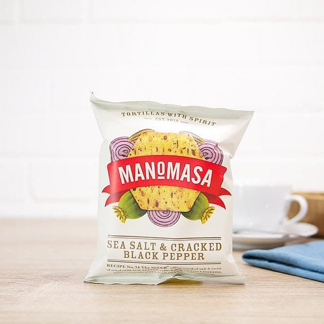 Sea Salt and Cracked Black Pepper Tortilla Chips by Manomasa