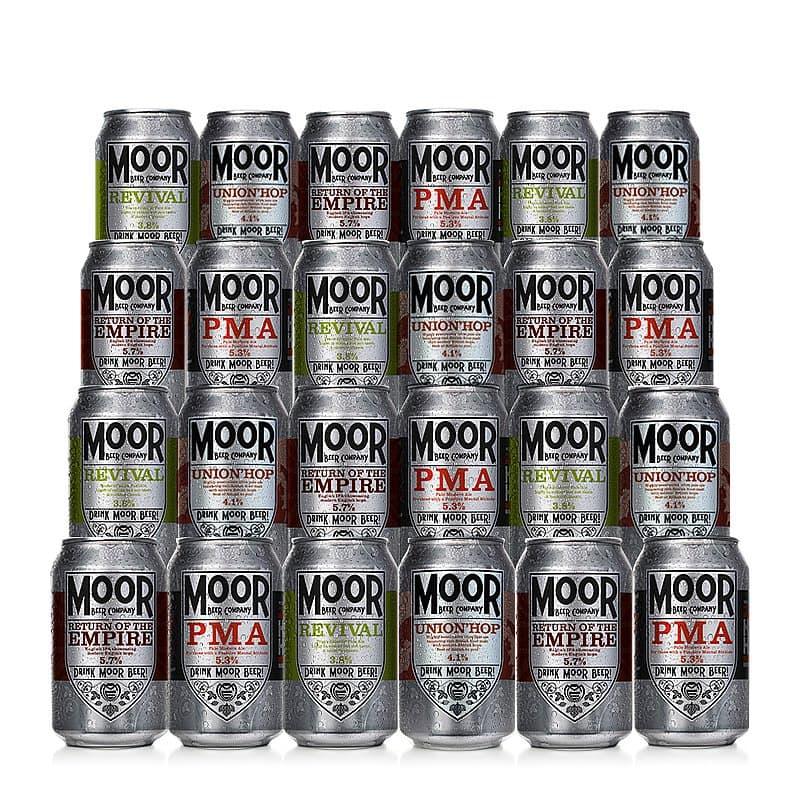 Mixed 24 Case by Moor Beer