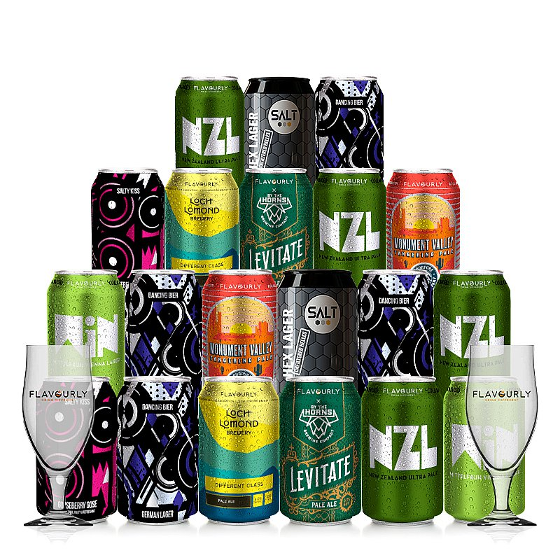 Mixed 20 Case + 2 Glasses by Flavourly Collaboration Cases