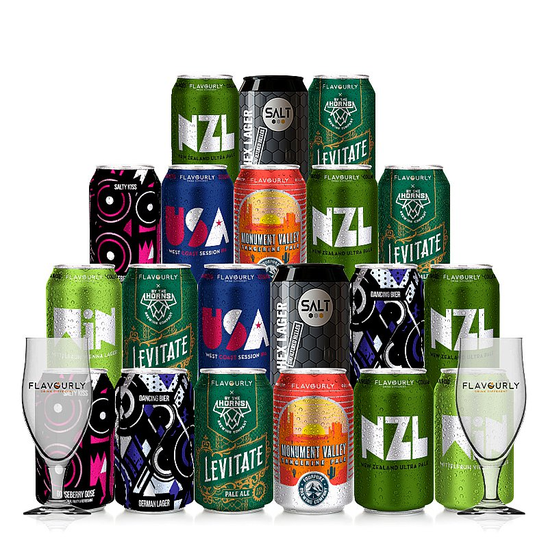 Mixed 20 Case + 2 Glasses