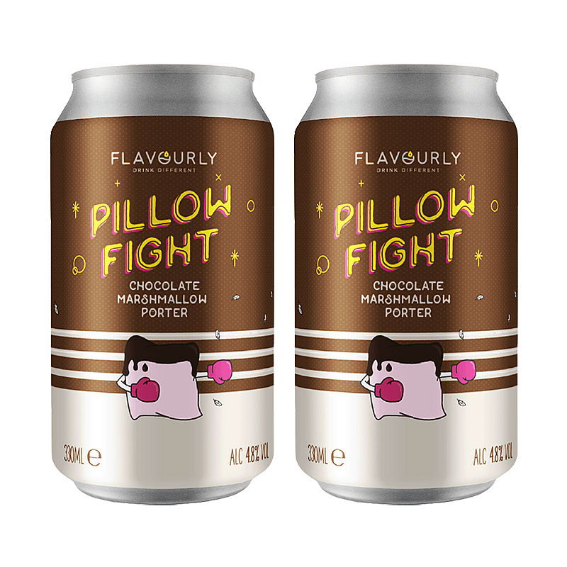 Flavourly Pillow Fight - Twin Pack by Flavourly