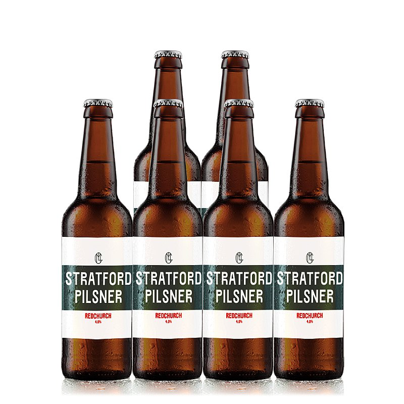Redchurch Stratford Pils 6 Case by Redchurch Brewery