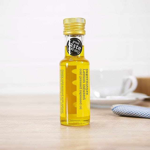Lemon Infused Rapeseed Oil by SuperNature UK