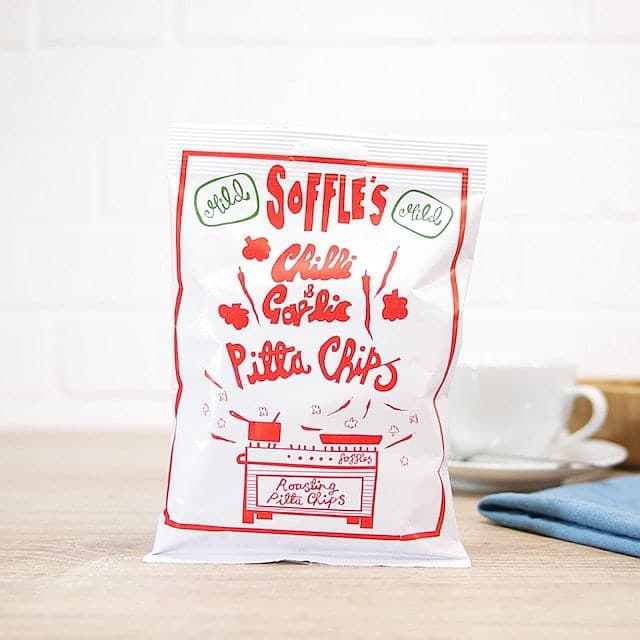 Chili and Garlic Pitta Chips by Soffle's