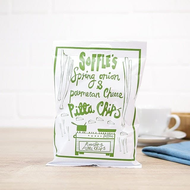 Spring Onion Pitta Chips by Soffle's