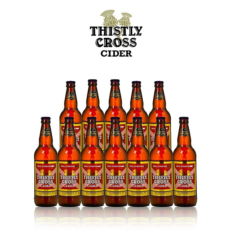 Strawberry Cider 12 Case by Thistly Cross