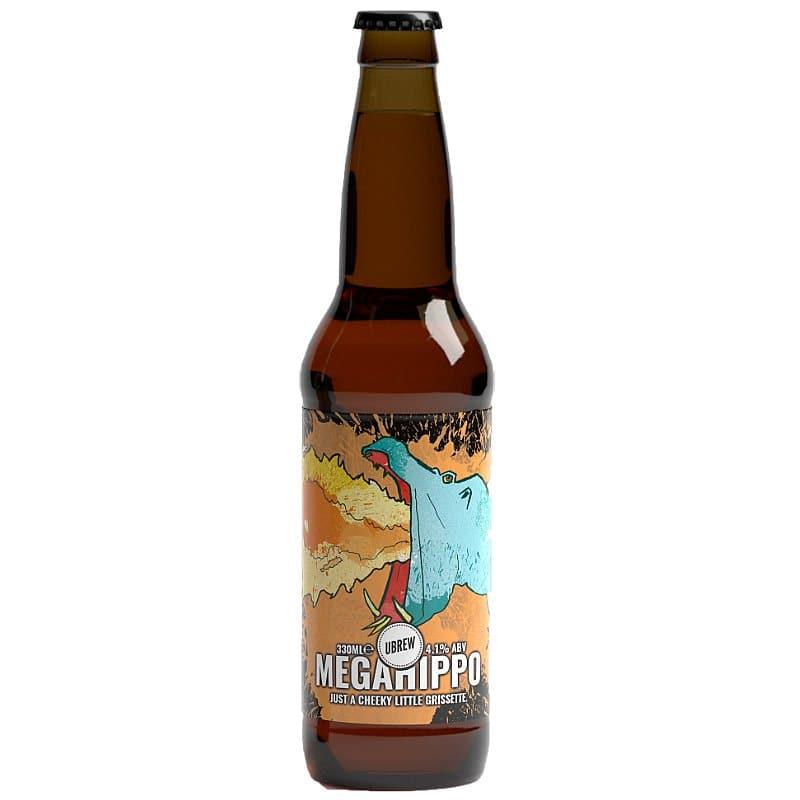 Mega Hippo Grisette Bottle by UBREW