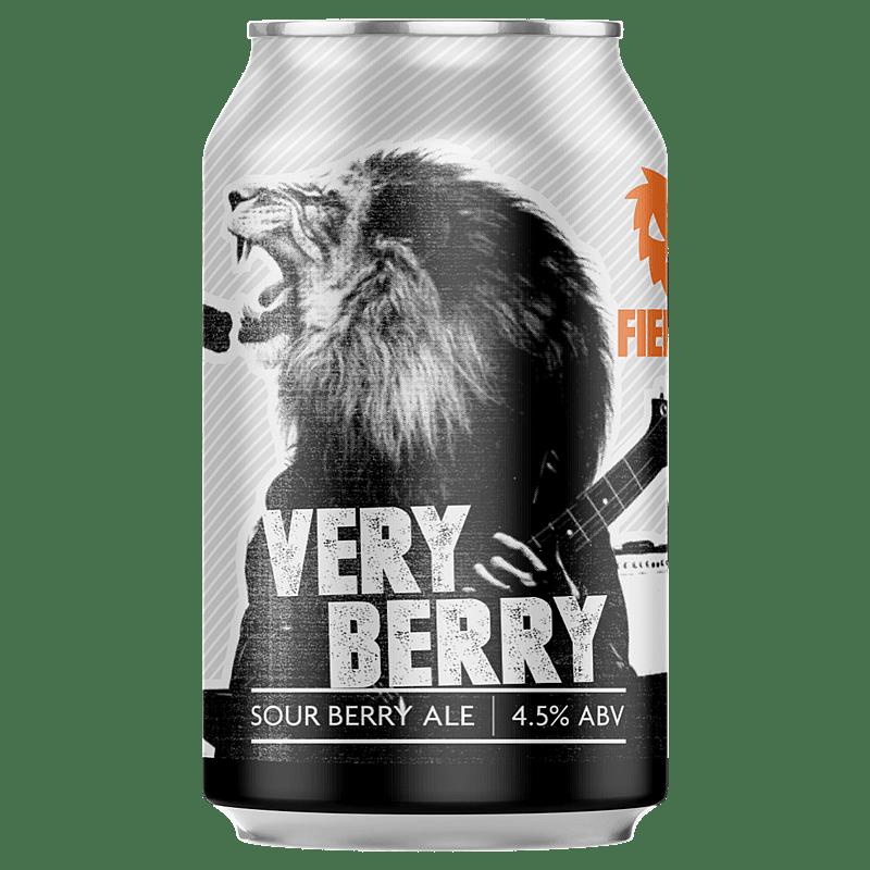 Fierce Beer Very Berry Can by Fierce Beer