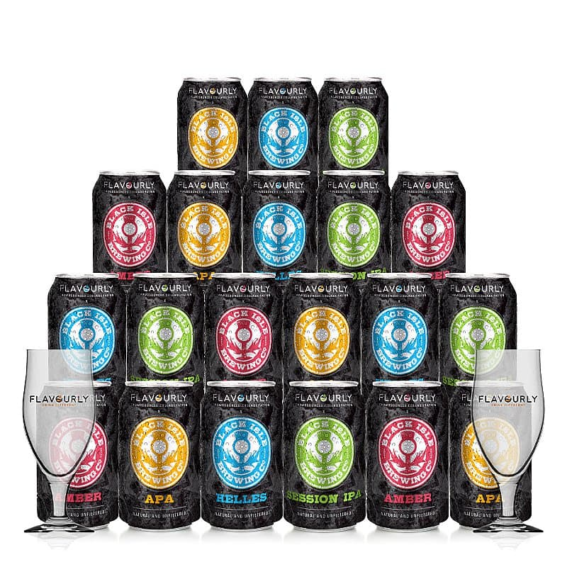 Mixed 20 Case + 2 Glasses by Black Isle Brewery X Flavourly