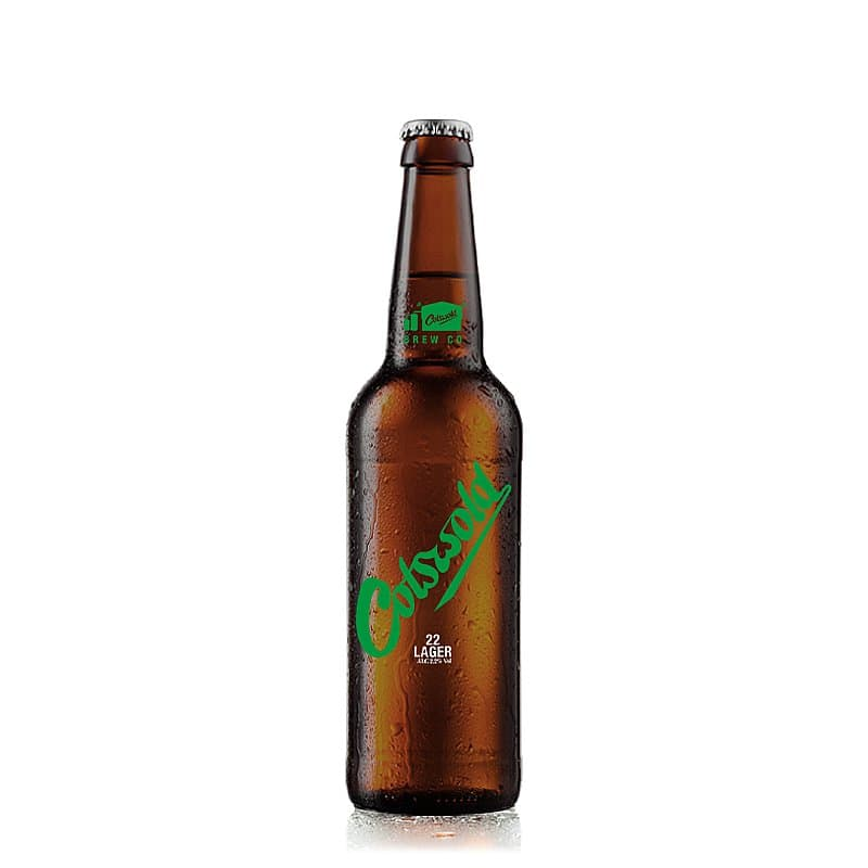 Lager 330ml bottle by Cotswold Brew Co