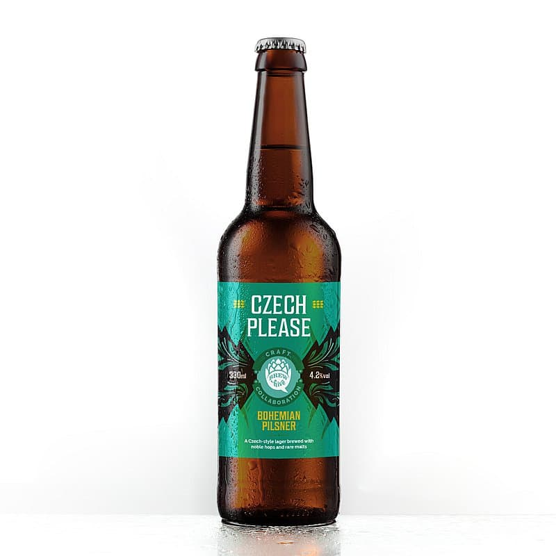 Czech Please Bohemian Pilsner by Brewhive X Hilden
