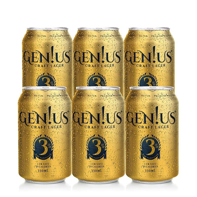 Genius Lager 6 Case by Gen!us Brewing