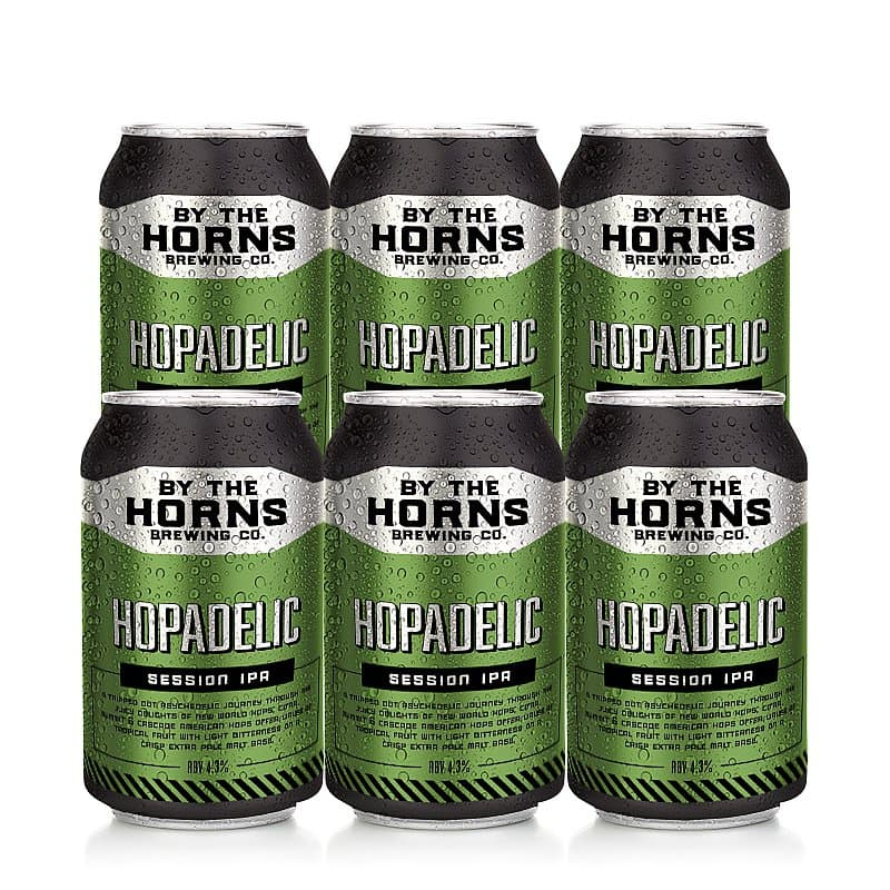 Hopadelic 6 Case by By the Horns Brewing