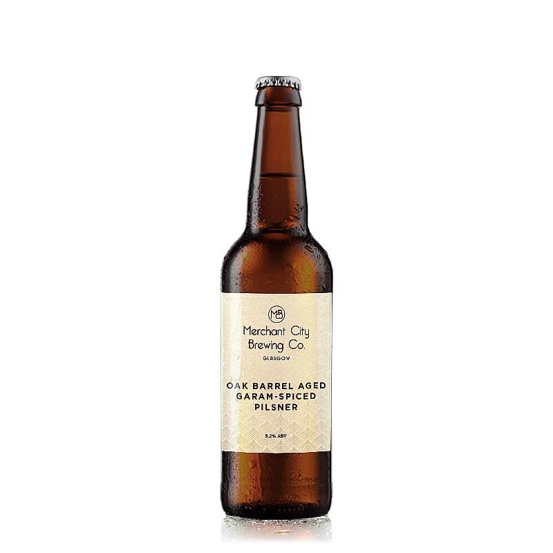 Oak Barrel Aged Garam-Spiced Pilsner by Merchant City Brewing