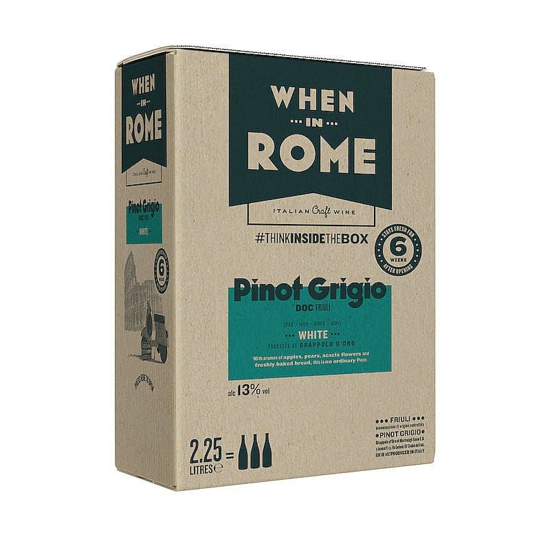 Ecotricity Pinot Grigio Box by When in Rome X Ecotricty