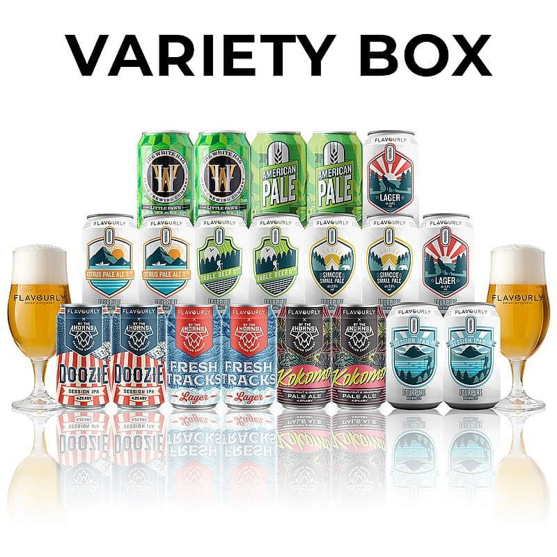 Craft Beer Variety Box (20 beers + 2 glasses)