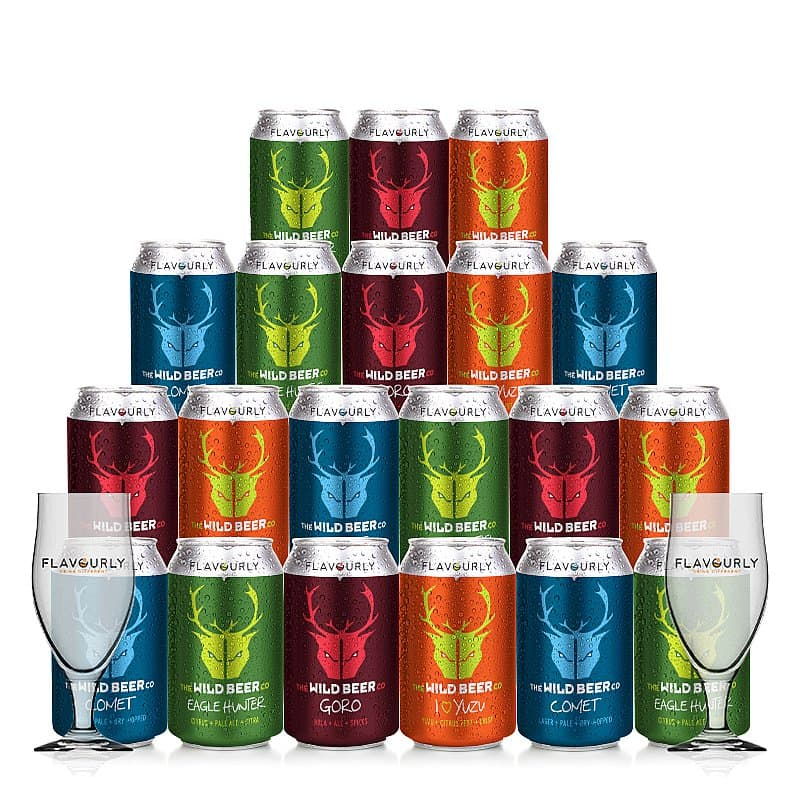 Mixed 20 Case + 2 glasses by Wild Beer Co X Flavourly
